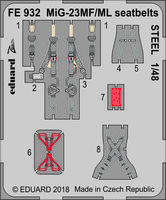 MiG-23MF/ML seatbelts STEEL  EDUARD/TRUMPETER - Image 1