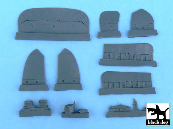 Albatros W4 detail set for Gavia 016/0109, 14 resin parts - Image 1