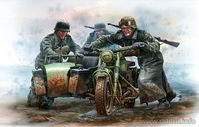 German Motorcyclists, WWII era