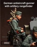German antiaircraft gunner with artillery rangefinder