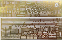 Photo-Etched Parts for IJN Battle Ship Hyuga (1941) (w/Ship Name Plate) - Image 1