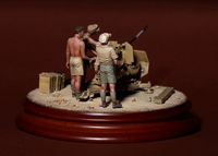 DAK crew for 2 cm Flak 38. 4 figures
