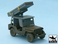 Jeep with rocket launcher for Tamiya 32552, 43 resin parts