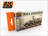 AK 558 IRAQ & AFGHANISTAN Authentic colors for use on Modern Iraq, American, German and British vehicles Set