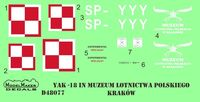 Yak-18 SP-YYY decal + mask - Image 1