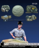 German SS AFV Commander & accessories set for Sd.Kfz. 222 (Dedicated to Tamiya - Image 1