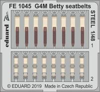 G4M Betty seatbelts STEEL TAMIYA - Image 1