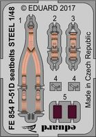 P-51D seatbelts STEEL   AIRFIX - Image 1