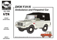 DKW F-91/6 (Ambulance and Fire patrol car) 1/72