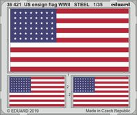 US ensign flag WWII STEEL