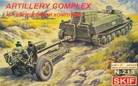 MT-LB and D-30 Soviet 122-mm Howitzer