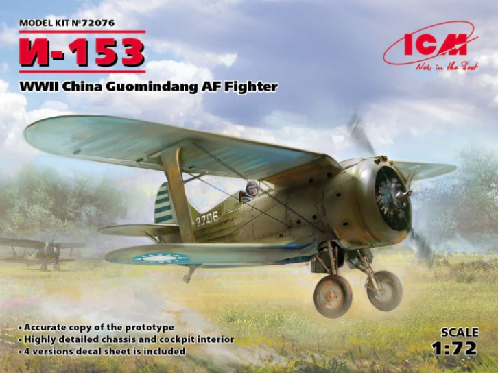 I-153 WWII China Guomindang AF Fighter - Image 1