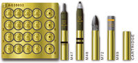 U.S. 75mm GUN AMMO SET(BRASS)
