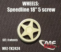 Speedline wheels 5 spoke 5 screw