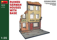 Ruined german house with base