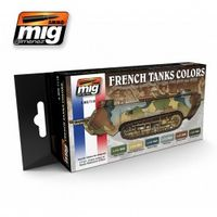 A.MIG 7110 WWI & WWII FRENCH CAMOUFLAGE COLORS Set