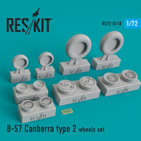 B-57 Canberra type 2 wheels set