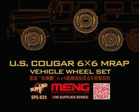 US Cougar 6x6 MRAP wheel set (resin) - Image 1