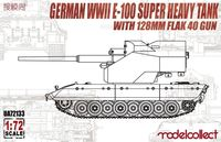 German WWII E-100 Super Heavy Tank with 128mm Flak 40 Gun