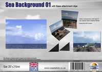 Sea Background 01  with attachment clips 297 x 210mm
