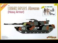 USMC M1A1 Abrams (Heavy Armor) + U.S. Tank Crew (Orange Series)