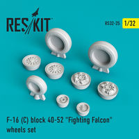 "F-16 (C) block 40-52 ""Fighting Falcon"" wheels set - Image 1"