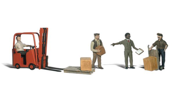 Workers with Forklift - Image 1
