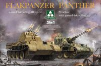 "Flakpanzer Panther ""Coelian"" with 37mm Flakzwilling 341 & 20mm flakvierling mg151/20 2 in 1"