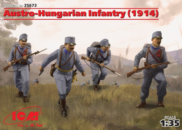 Austro-Hungarian Infantry (1914) (4 figures) - Image 1