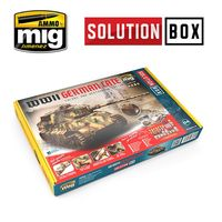 A.MIG 7703 WWII GERMAN LATE COLORS AND WEATHERING SYSTEM - SOLUTION BOX