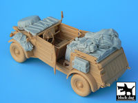 Kübelwagen type 82 accessories set for Tamiya kit, 15 resin parts
