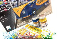 1387 Lufthasa Samba Bus - Blue and Yellow Set