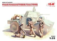 French Armoured Vehicle Crew (1940), (4 figures)