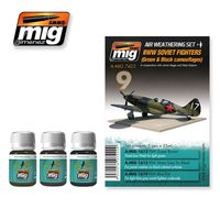 A.MIG 7422 WWII SOVIET AIRPLANES Set