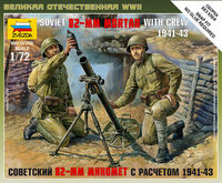 Soviet 82 mm Mortar with Crew (1941-1943) Art of Tactic