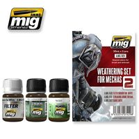 A.MIG 7429 WEATHERING SET FOR MECHAS