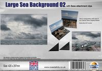 Sea Background 02 with attachment clips 297 x 210mm