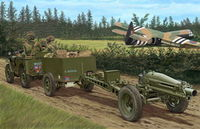 75mm Howitzer M1A1 (British Version) & 1/4 Ton Truck With Trailer & Crew.