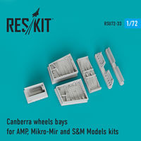 Canberra wheels bays for AMP, Mikro-Mir and S&M Models kits