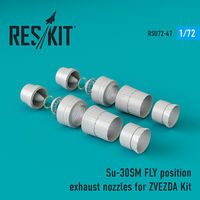 Su-30SM fly position exhaust nozzles for ZVEZDA Kit