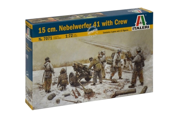 15 cm. NEBELWERFER 41 with Crew - Image 1