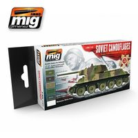 A.MIG 7107 Soviet Camouflages - Soviet Tanks Colors from 1935 to 1945 Set