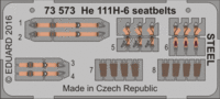 He 111H-6 seatbelts STEEL AIRFIX A07007