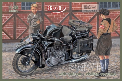 BMW R12 with sidecar Civilian - 3 in 1 - Image 1