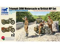 British Triumph 3HW Motorcycle with British Military Police (2 pieces)