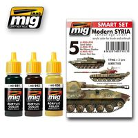 A.MIG 7103 Modern SYRIA camouflage colors - acrylic color for brush and airbrush Set