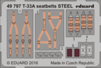 T-33A seatbelts STEEL GREAT WALL HOBBY L4819