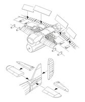 Typhoon Mk.I - Control surfaces set for Airfix - Image 1