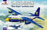"Lockheed C-130 and F4J ""BLUE ANGEL"" Aerobatic team"