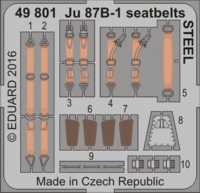 Ju 87B-1 seatbelts STEEL AIRFIX A07114